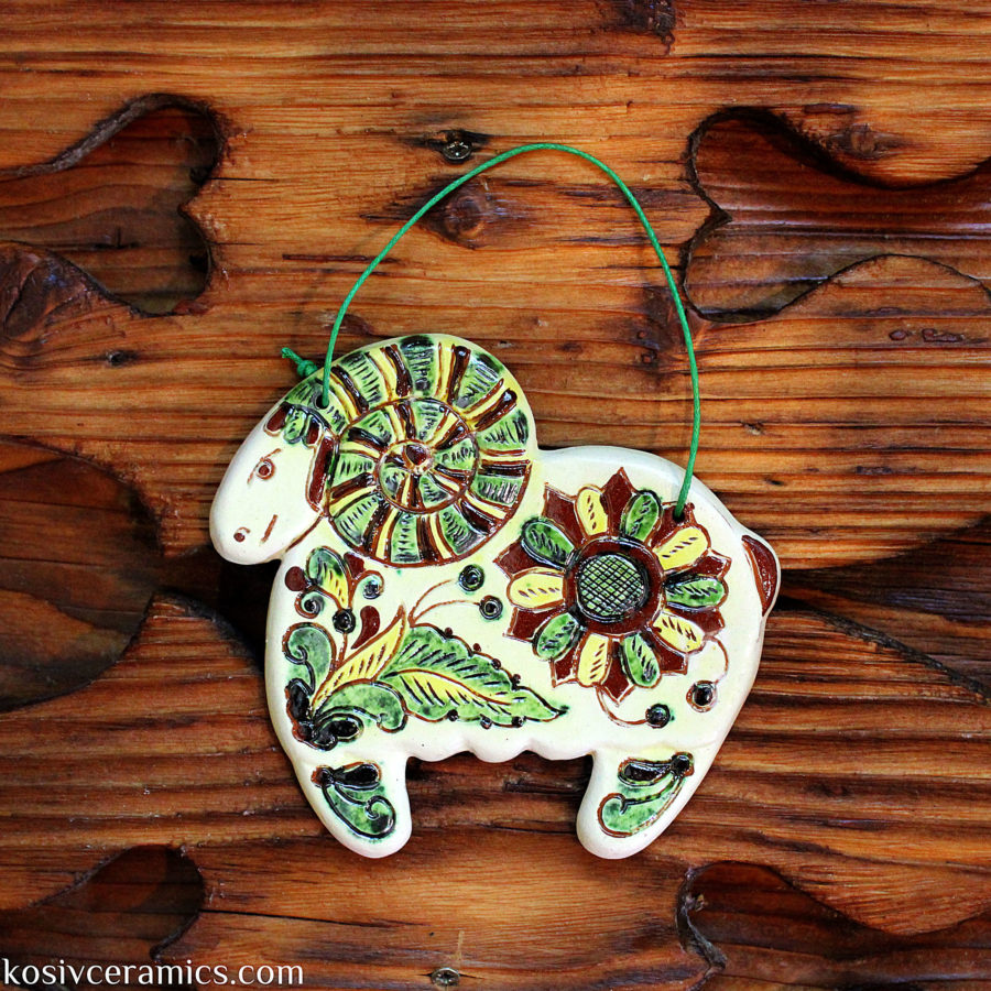 Sheep (decorative wall hanging tile)